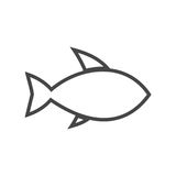 Line Fish icon. Fish icon, simple vector icon Royalty Free Stock Photos