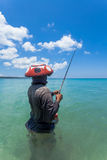 Line fishermen Royalty Free Stock Images