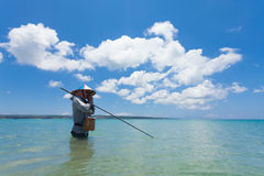 Line fishermen Royalty Free Stock Photos