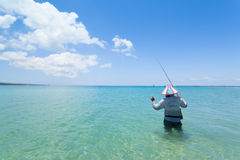 Line fishermen Royalty Free Stock Image
