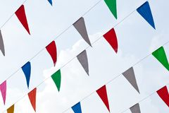 Line flag on the sky Stock Photo