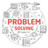 Line Flat Circle illustration problem solving Royalty Free Stock Photo