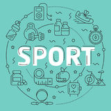 Line Flat Circle illustration sport Stock Photos