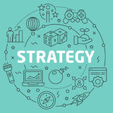 Line Flat Circle illustration strategy Stock Images