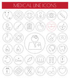 Line Flat Medical Icons set.vector/eps10. Royalty Free Stock Images