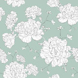 Line floral design pattern illustration. This is vector of flower pattern Stock Images