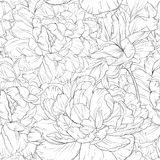 Line floral. This is vector of flower pattern seamless Stock Photos