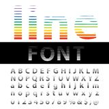 Line and font Royalty Free Stock Photography