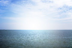 Line form sky and sea in cloundy day Stock Image