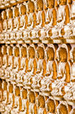 The line forming of buddha image Royalty Free Stock Photo