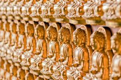The line forming of buddha image Stock Photo