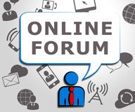 On-line-Forum, das Illustration des Social Media-3d darstellt stock abbildung