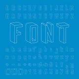 Line Framework Font 3D design Stock Photography
