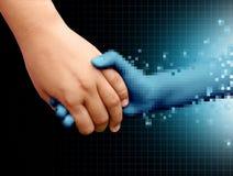 On-line-Freund-Technologie und Verhältnisse stock abbildung