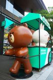 A line friends store in China. This is a line friends store in China. There are a lot of cartoon toys in this store stock photo