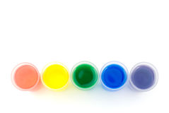 Line of frosted glass and color water Stock Photography