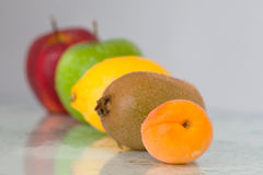 Line of fruits Royalty Free Stock Photo