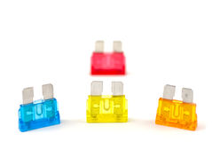 Line of Fuses Royalty Free Stock Photos