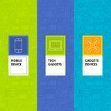 Line Gadgets Devices Patterns Set Stock Photos