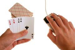 On-line gambling. Conceptual shot representing on-line gambling Stock Photo