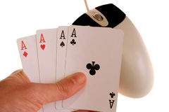 On-line gambling 2. Conceptual shot representing on-line gambling Royalty Free Stock Images