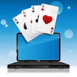 On-line gambling Stock Image