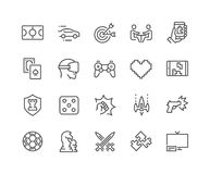 Line Games Icons Stock Photos