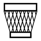 Line Garbage Can Icon. Vector illustration of a garbage can line icon Royalty Free Stock Photo