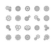 Line Gear Icons Royalty Free Stock Images