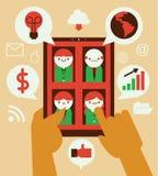 On-line-Geschäfts-Chat Lizenzfreie Stockfotos