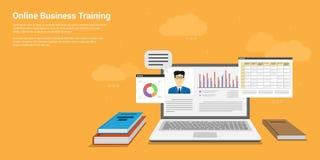 On-line-Geschäftstraining lizenzfreie abbildung