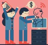 On-line-Geschäftsvereinbarung Lizenzfreies Stockbild