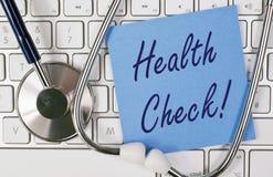 On-line-Gesundheits-Check Stockbild