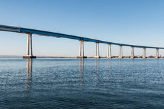 Line of Girders Supporting the Coronado Bridge. A line of girders supporting the San Diego-Coronado Bay Bridge, built in 1969 Royalty Free Stock Photos