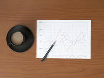 Line Graph Royalty Free Stock Images