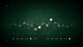 Line Graph Loop Green stock footage