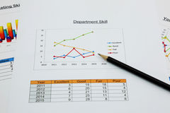 Line graph of marketing skill in your organization Royalty Free Stock Image
