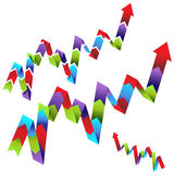 Line Graph Process Chart Royalty Free Stock Photos