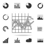 Line graph type chart icon. Detailed set of Trend diagram and chart icons. Premium quality graphic design. One of the collection i. Cons for websites, web design Stock Photos