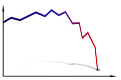 Free Line Graph With A Large Decrease Stock Image - 32189911