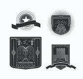 Line graphical emblems Royalty Free Stock Photos
