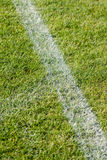 The line on the grass on the football pitch Royalty Free Stock Image