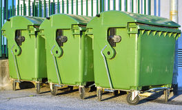 Green garbage bins Stock Photography