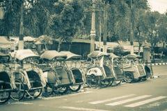 A line group of pedicap at jogja yogyakarta indonesia. Java Royalty Free Stock Photo