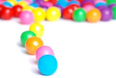 Line of gum balls Stock Photo