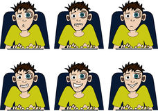 On-line guy Royalty Free Stock Images
