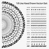 18 Line Hand Drawn Vector Set. Handmade Vector Illustration Royalty Free Stock Photo