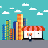 On-line-Handel Lizenzfreies Stockfoto