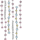 Line hanging background with heart ,star and circle hand drawn w Stock Photo