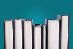 Line of hardcover books Royalty Free Stock Image